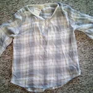 Brand New Cloth & Stone Flannel Top